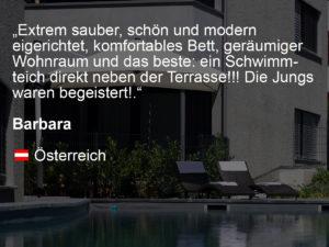 wohnen-dornbirn.at | booking.com Bewertung von Barbara