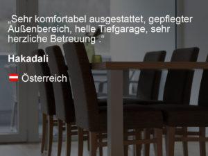 wohnen-dornbirn.at | booking.com Bewertung von Hakadali