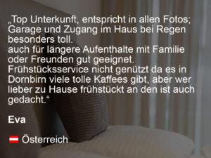wohnen-dornbirn.at | booking.com Bewertung von Eva
