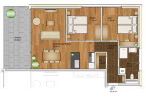 wohnen-dornbirn.at | Komfort Apartement 65m2