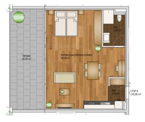 wohnen-dornbirn.at | Studio Apartement 45m2