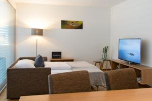 wohnen-dornbirn.at   Bequeme Schlaf-Couch im Wohnzimmer