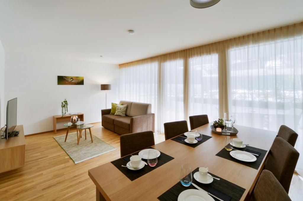 wohnen-dornbirn.at | Wohnzimmer im Komfort Apartement