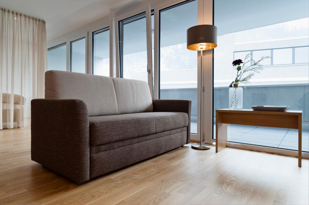 wohnen-dornbirn.at | Wohnzimmer im Studio Apartement